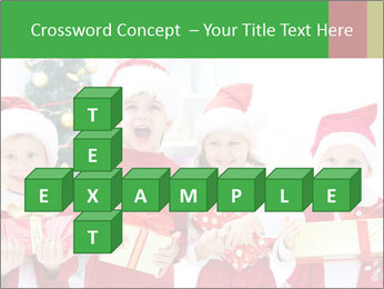 Four children in Christmas PowerPoint Template - Slide 82