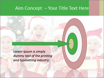 Four children in Christmas PowerPoint Template - Slide 83