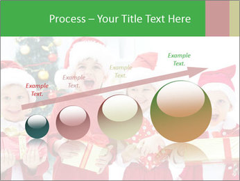 Four children in Christmas PowerPoint Template - Slide 87