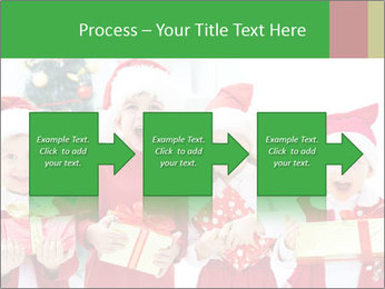 Four children in Christmas PowerPoint Template - Slide 88