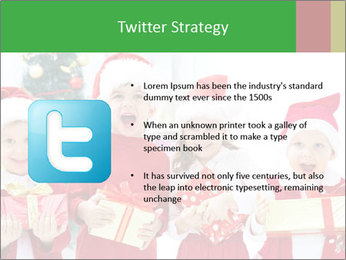 Four children in Christmas PowerPoint Template - Slide 9