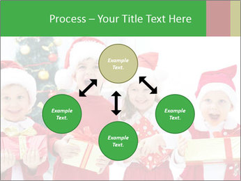 Four children in Christmas PowerPoint Template - Slide 91