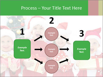 Four children in Christmas PowerPoint Template - Slide 92