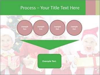 Four children in Christmas PowerPoint Template - Slide 93