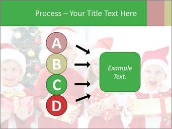 Four children in Christmas PowerPoint Template - Slide 94