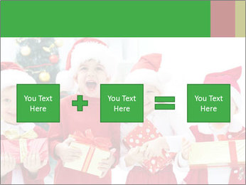Four children in Christmas PowerPoint Template - Slide 95