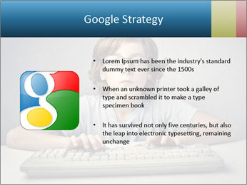 Child typing PowerPoint Template - Slide 10
