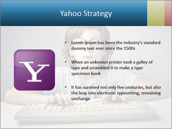 Child typing PowerPoint Template - Slide 11