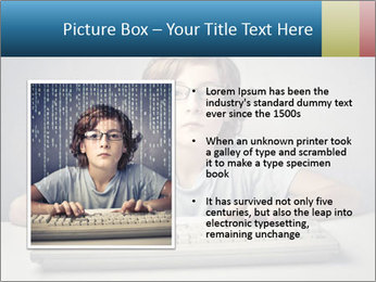 Child typing PowerPoint Template - Slide 13