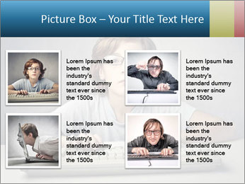 Child typing PowerPoint Template - Slide 14