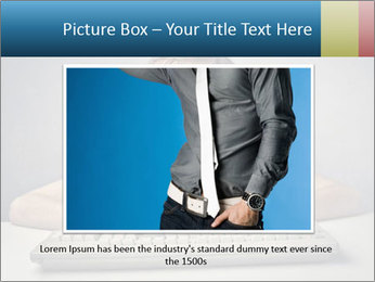 Child typing PowerPoint Template - Slide 16