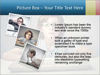 Child typing PowerPoint Template - Slide 17