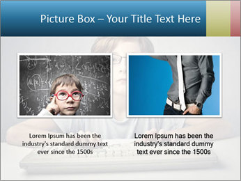 Child typing PowerPoint Template - Slide 18