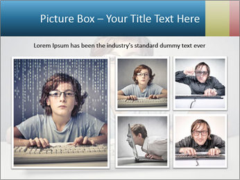 Child typing PowerPoint Template - Slide 19