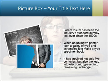 Child typing PowerPoint Template - Slide 20
