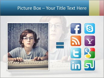 Child typing PowerPoint Template - Slide 21