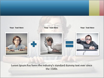 Child typing PowerPoint Template - Slide 22