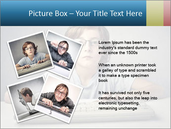 Child typing PowerPoint Template - Slide 23