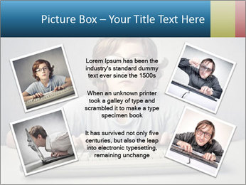 Child typing PowerPoint Template - Slide 24