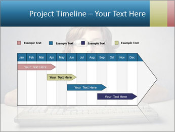 Child typing PowerPoint Template - Slide 25
