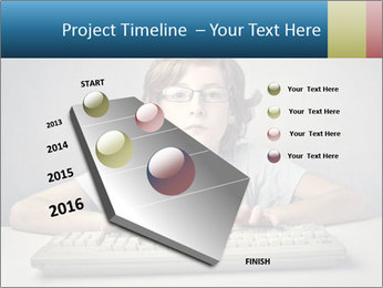 Child typing PowerPoint Template - Slide 26