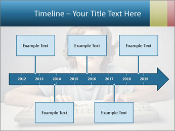Child typing PowerPoint Template - Slide 28