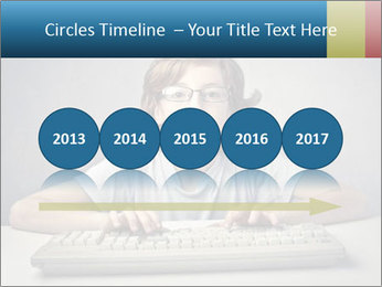 Child typing PowerPoint Template - Slide 29