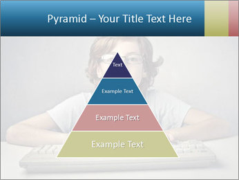 Child typing PowerPoint Template - Slide 30