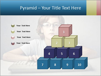 Child typing PowerPoint Template - Slide 31