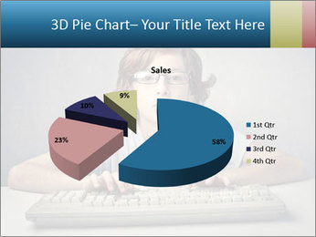 Child typing PowerPoint Templates - Slide 35