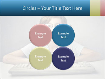 Child typing PowerPoint Template - Slide 38