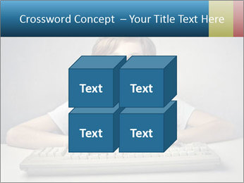 Child typing PowerPoint Template - Slide 39