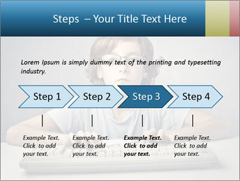 Child typing PowerPoint Template - Slide 4