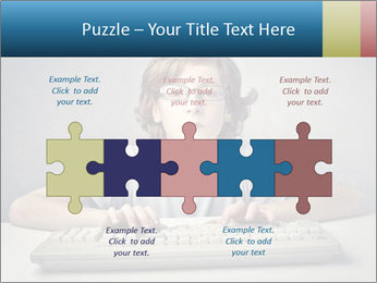 Child typing PowerPoint Templates - Slide 41
