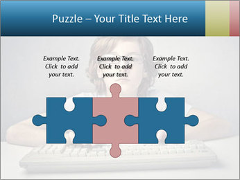 Child typing PowerPoint Template - Slide 42