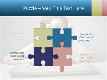 Child typing PowerPoint Template - Slide 43