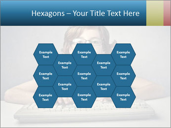 Child typing PowerPoint Template - Slide 44