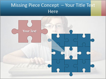 Child typing PowerPoint Template - Slide 45