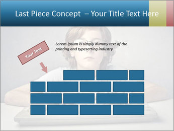 Child typing PowerPoint Template - Slide 46