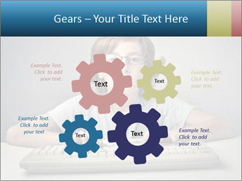 Child typing PowerPoint Template - Slide 47