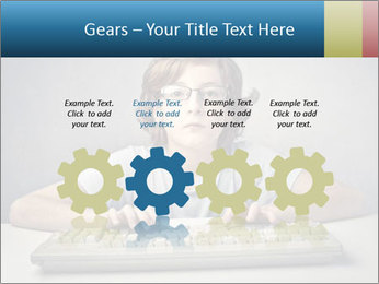 Child typing PowerPoint Template - Slide 48