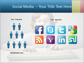 Child typing PowerPoint Template - Slide 5