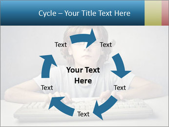 Child typing PowerPoint Template - Slide 62