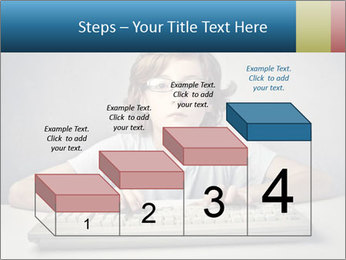 Child typing PowerPoint Template - Slide 64
