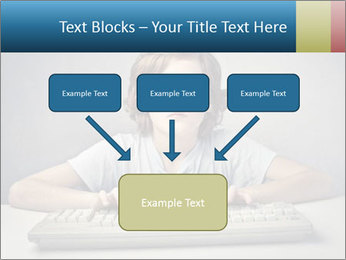 Child typing PowerPoint Templates - Slide 70