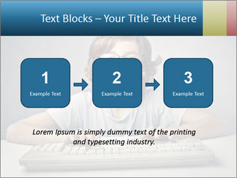 Child typing PowerPoint Template - Slide 71