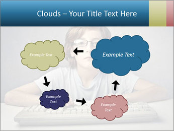 Child typing PowerPoint Template - Slide 72