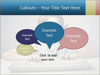 Child typing PowerPoint Templates - Slide 73