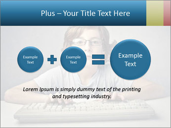 Child typing PowerPoint Template - Slide 75