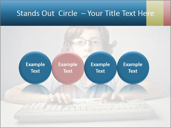 Child typing PowerPoint Template - Slide 76